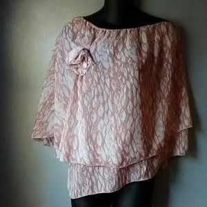 Baby phat size small flowy one sleeve blouse